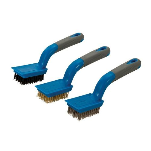 Silverline 596171 Medium Wire Brush Set 3 Piece